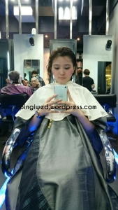 penampakan rambut abis dicuci