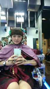 kelar diuapin, ke proses pendinginan dulu skitar 20menit terus baru cuci rambut lagi