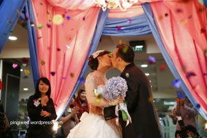our wedding kiss