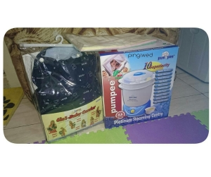 steamer + sterilizer, baby carrier & gurita bayi from Epoi's friend