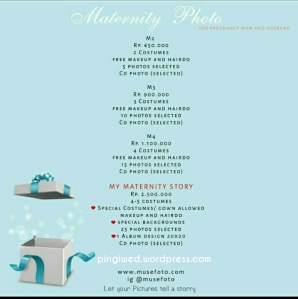 PL Maternity Photo (harga bisa berubah sewaktu2, better crosscheck lagi ya ke pihak Muse)